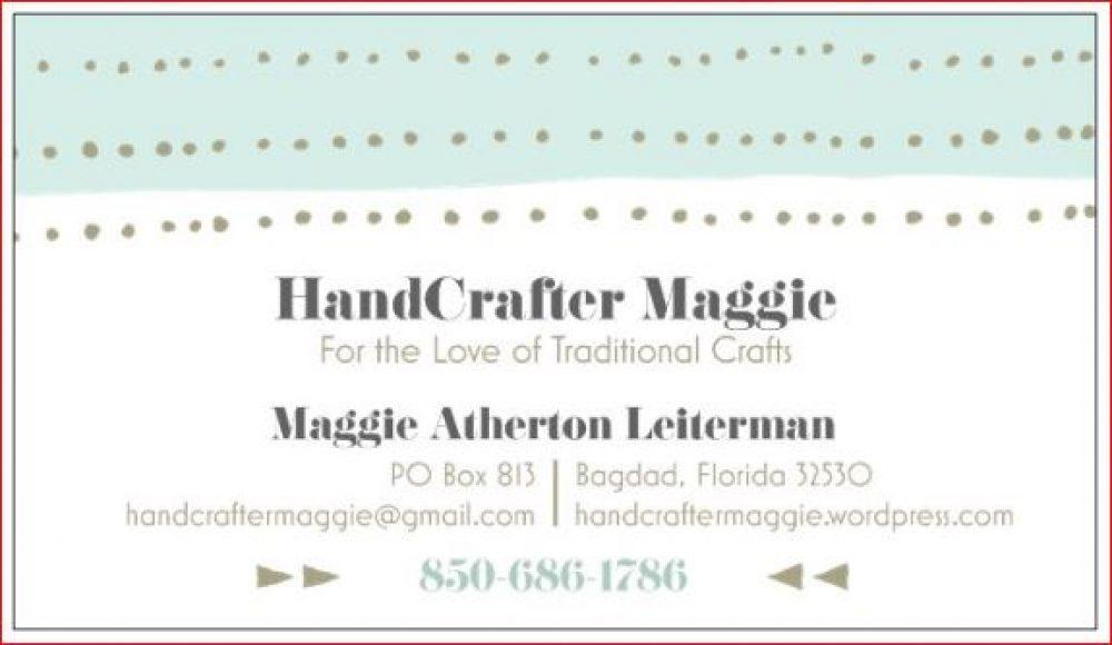 HandCrafter Maggie's Blog